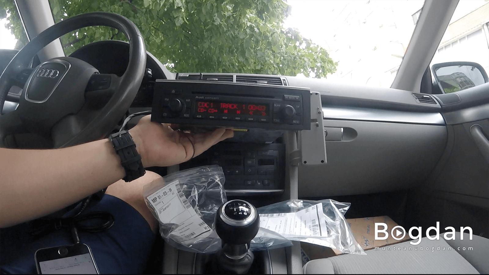 Montare interfață AUX pe Audi Concert 2