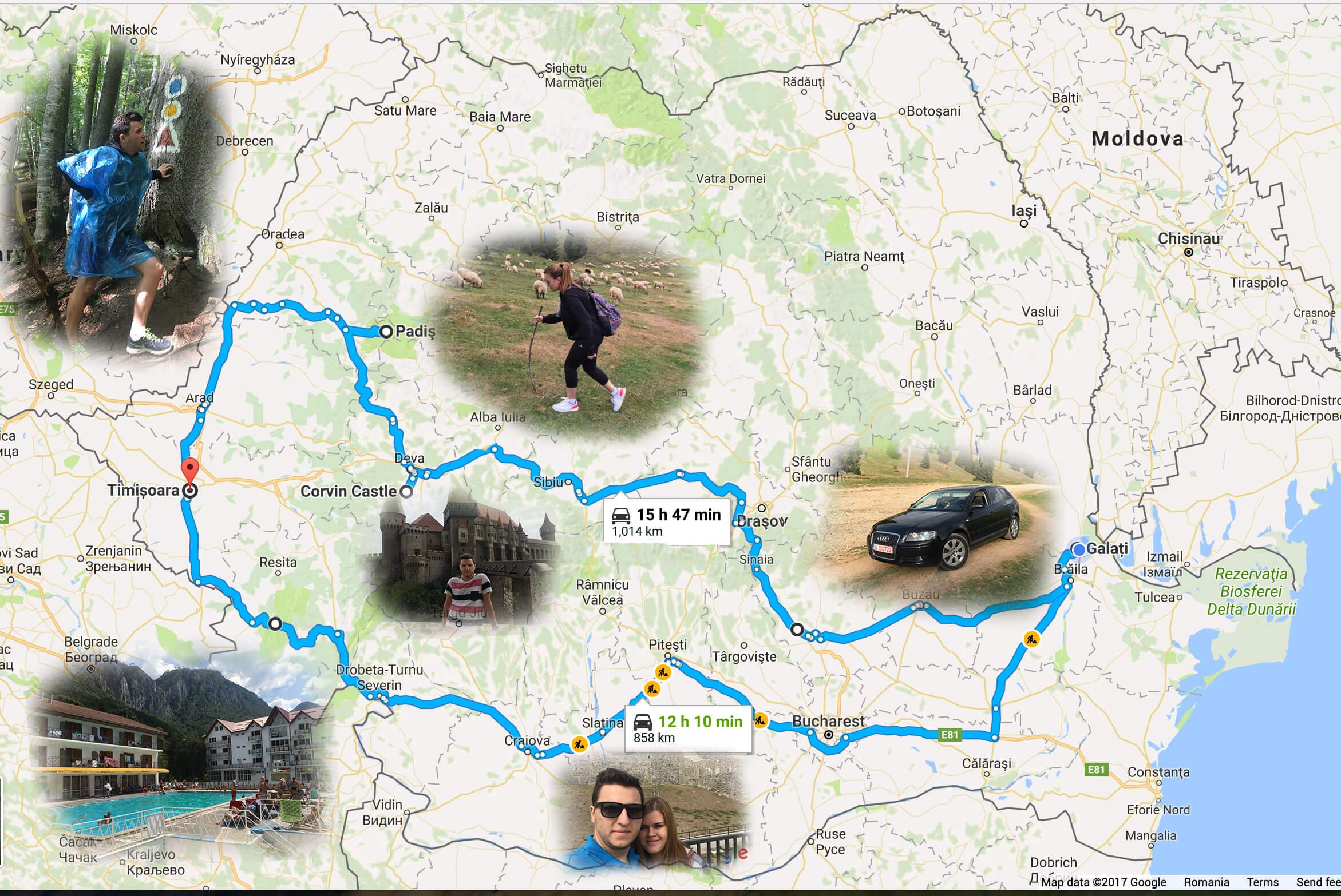Un mic tur de .. 2200km prin țară