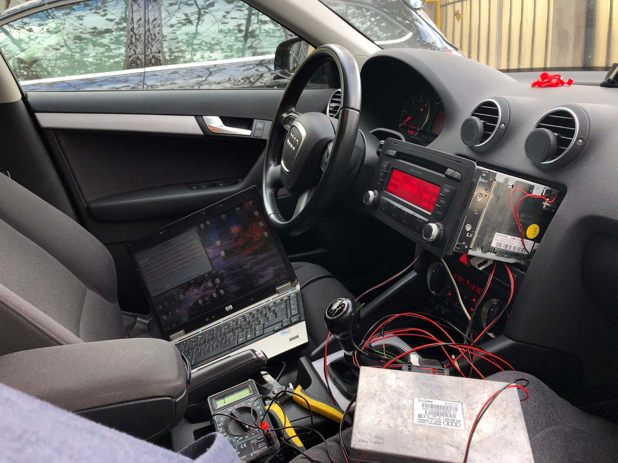 Instalare modul telefon OEM pe Audi A3