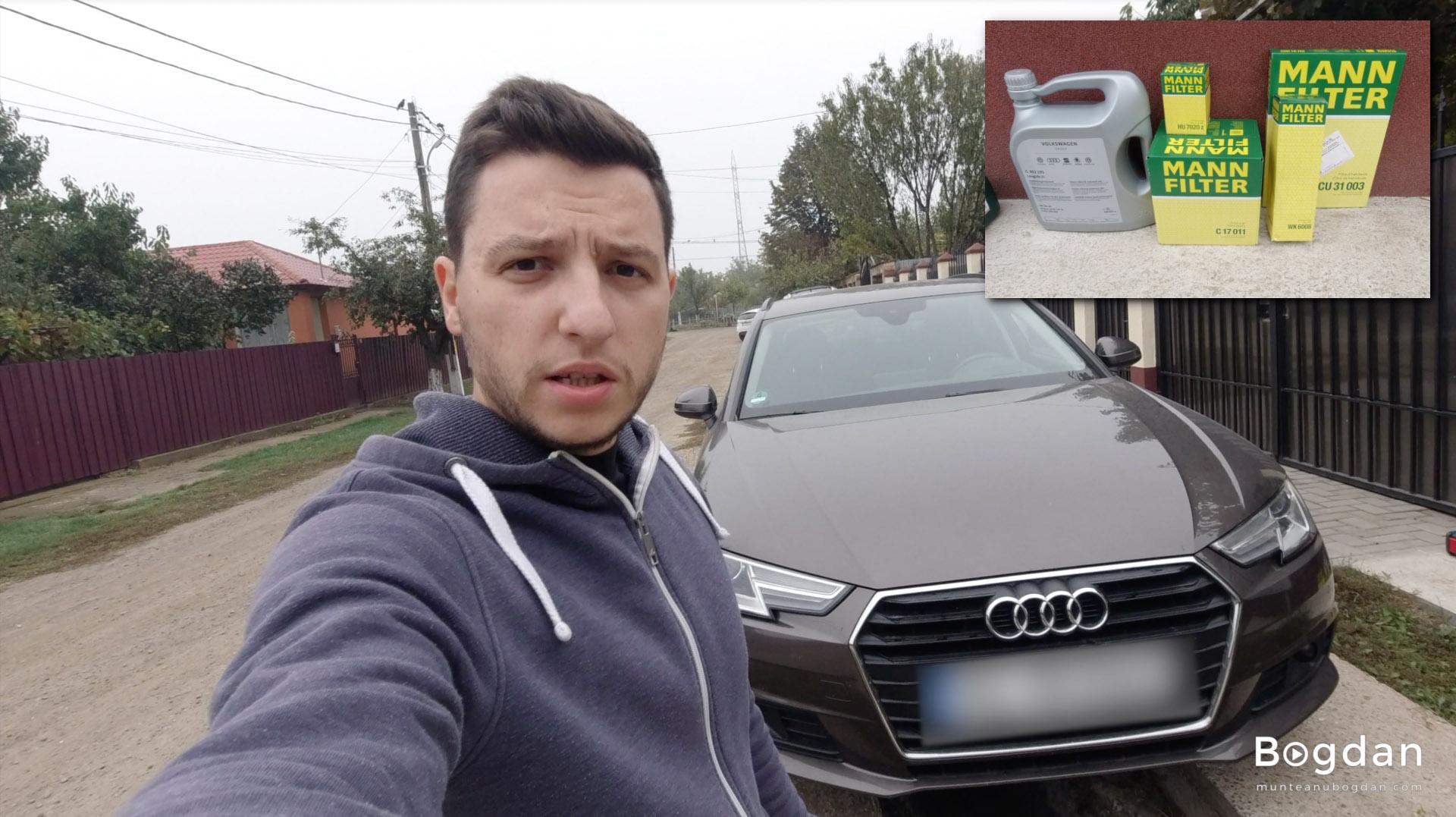 Revizie Audi A4 B9 – Schimb filtre și ulei